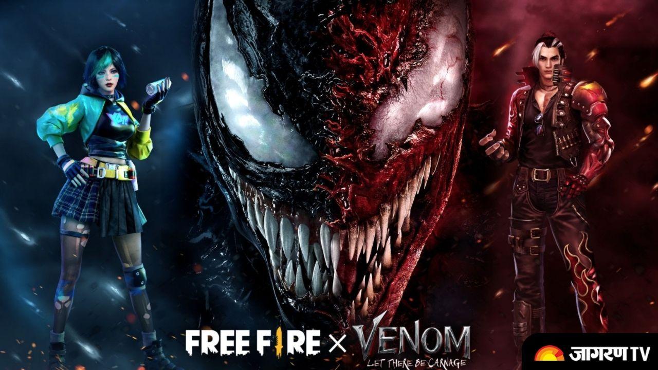 Free Fire x Venom: Garena collaborates with Venom, know Event Calendar, new items and more