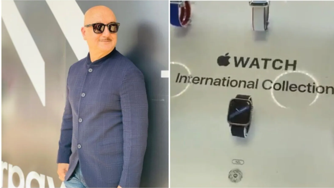 Disappointed, Anupam Kher shared a video after Apple Store failed to include India's watch; Know why