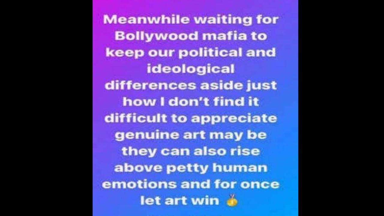 Kangana Ranaut takes a dig at Bollywood; asks them to 'rise above petty  human emotions' and watch Thalaivii