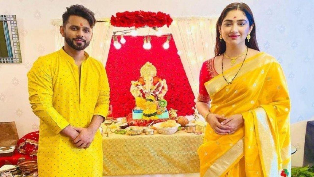 रहुल वैद्द और दिशा परमार ने शादी के बाद ऐसे मनाई गणेश चतुर्थी
