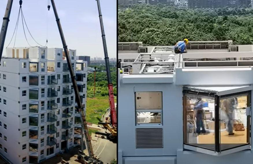 चीन ने महज 48 घंटे में तैयार की 10 मंजिला भूकंप प्रतिरोधी इमारत। देखे वीडियो