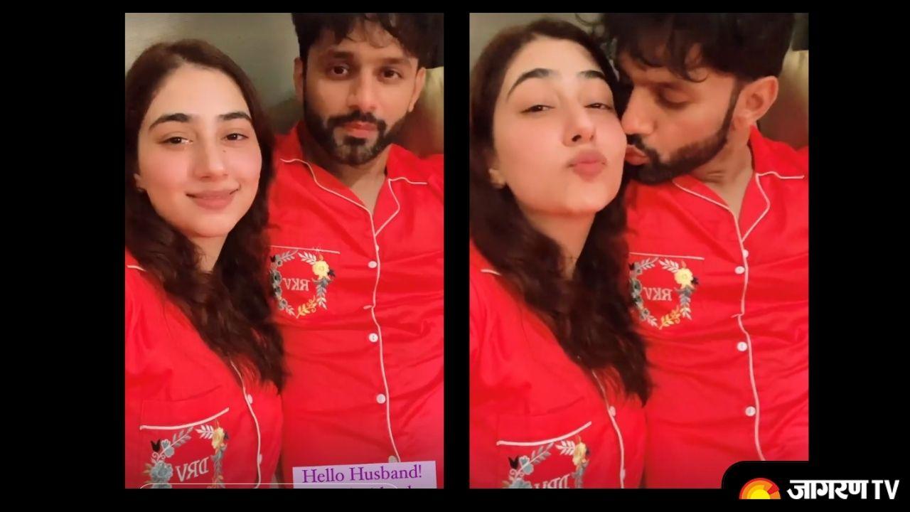 Rahul Vaidya Disha Parmar first post-wedding selfie giving major couple goals, picture surfaced