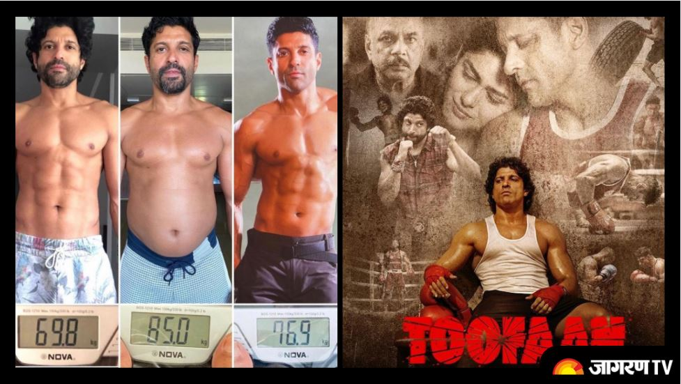 Farhan Akhtar shares amazing Body transformation journey for his film, See the shades of 'Aziz aka Toofaan'