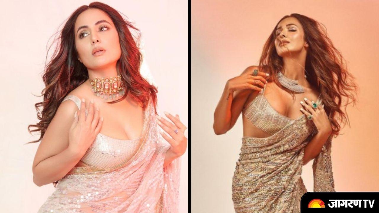 In Pics Hina Khan or Malaika Arora who slayed in Manish Malhotra Saree?