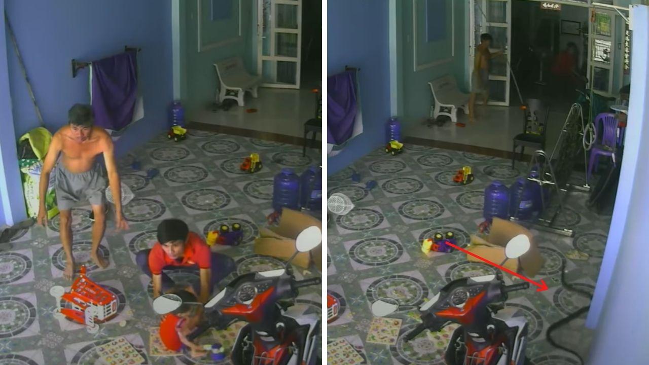 खेलते हुए बच्चे का पीछा कर घर में घुसा 2 मीटर लम्बा किंग कोबरा, वीडियो देख आपके भी  खड़े हो जाएंगे रोंगटे।