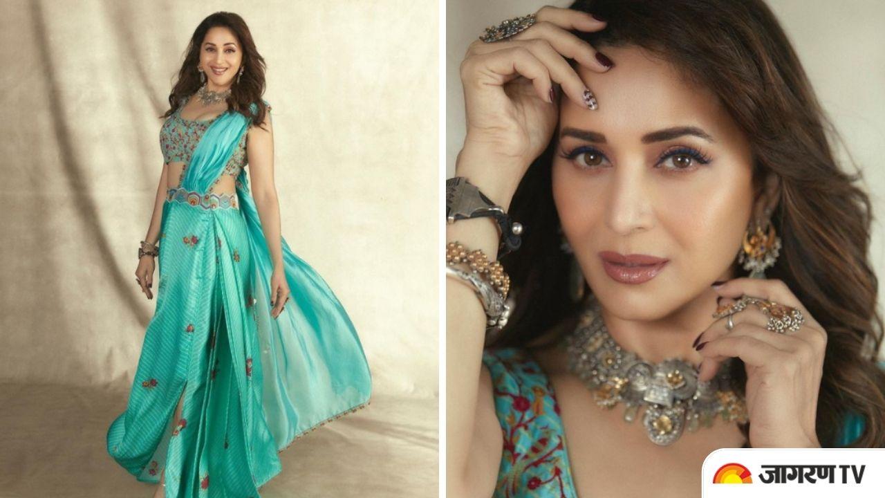 Dance Deewane 3: Madhuri Dixit looks ravishing in Turquoise Saree, Know how to buy it