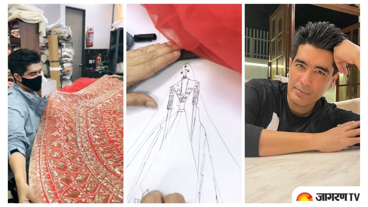 Manish Malhotra creates 'The Red Story' of Monday, shares sneak-peek into making of red Bridal Outfit