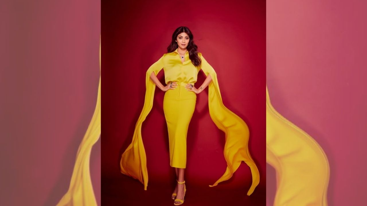 In Pics Shilpa Shetty flaunts Rs 2 Lac wings for Hungama 2 promotions, says 'spring in the step'