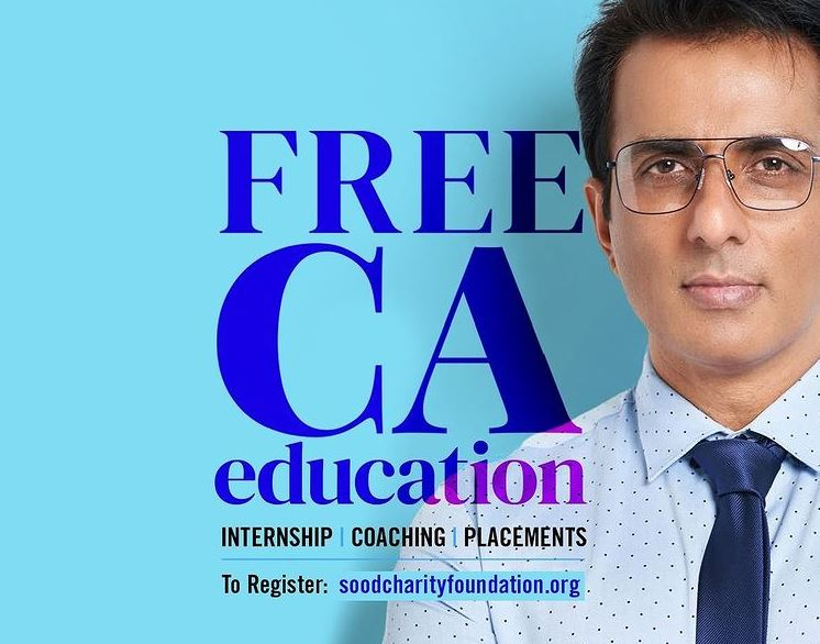 Sonu Sood Charity Foundation now starts free CA Education caching