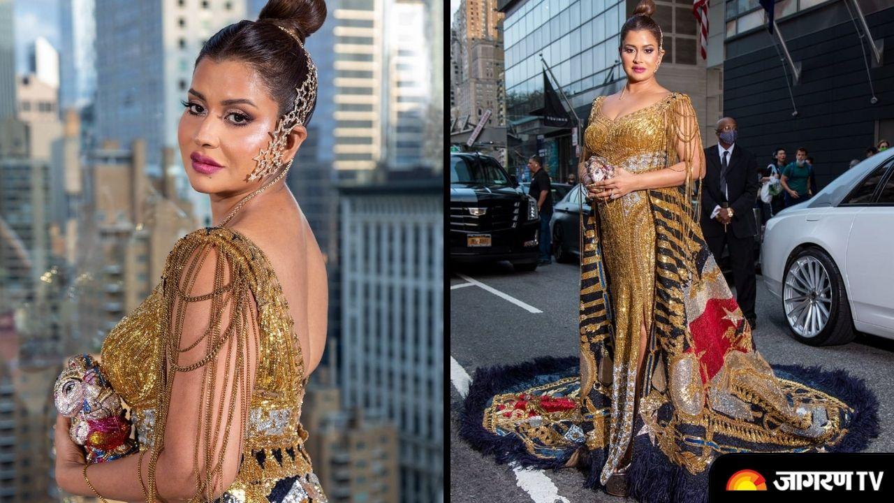 Sudha Reddy Met gala 2021: Indian Philanthropist walking the red carpet in Falguni & Shane Peacock