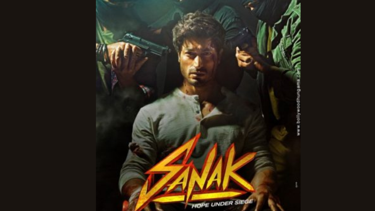 """First look of Vidyut Jamwal's """"Sanak"""" unveiled; Know when & where to watch the film"""
