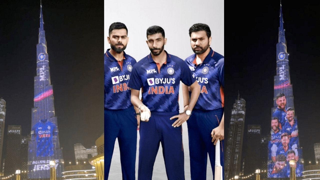 T20 World Cup 2021 : दुनिया की सबसे ऊंची इमारत 'बुर्ज खलीफा' पर चढ़ा इंडिया की नई जर्सी का रंग