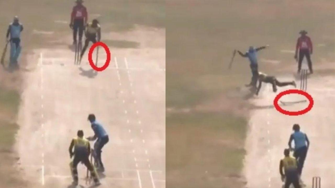 दिव्यांग खिलाड़ी ने बैसाखी फेंककर पकड़ा शानदार कैच, सोशल मीडिया पर वायरल हुआ वीडियो