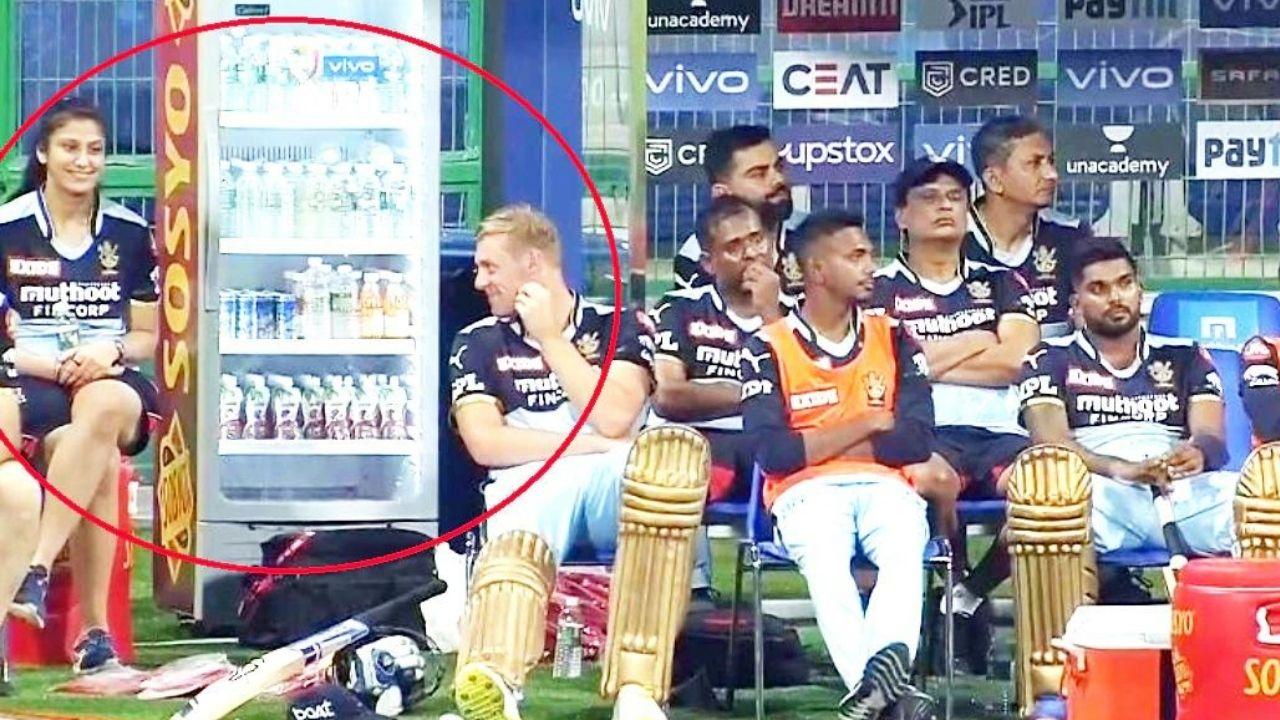 IPL 2021 :RCB की हालत थी खराब, डगआउट में बैठकर Kyle Jamieson ने चलाए नजरों से तीर, सोशल मीडिया पर वायरल हुई फोटो