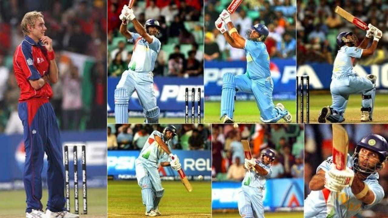 On this day in cricket : आज के ही दिन युवराज ने ब्रॉड के एक ओवर में जड़े थे छह छक्के, देखें VIDEO